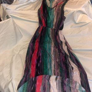 Colorful high low summer dress